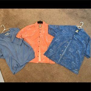 Tommy bahama etc. Men's shirt lot